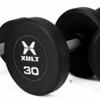 XULT Rubber Round Dumbbells